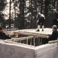 Pause im Fundament der Concordia Hütte
