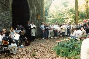 Ökumenischer Gottesdienst am Kirchel in den 1980er Jahren